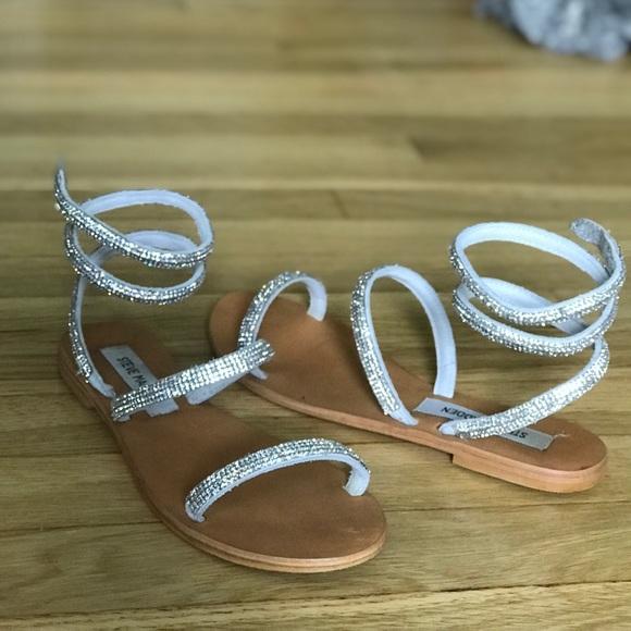 Steve Madden Rhinestone Wrap Sandal